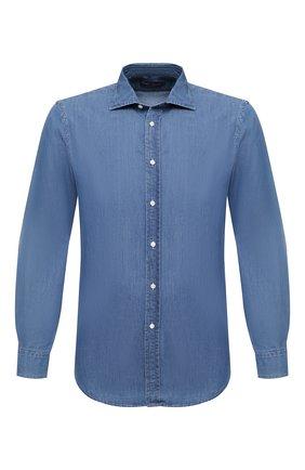 Мужская джинсовая рубашка RALPH LAUREN синего цвета, арт. 790806131 | Фото 1