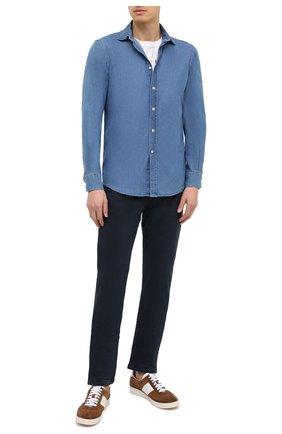 Мужская джинсовая рубашка RALPH LAUREN синего цвета, арт. 790806131 | Фото 2