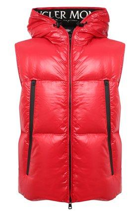 Мужской пуховый жилет agneaux MONCLER красного цвета, арт. F2-091-1A51C-00-68950 | Фото 1