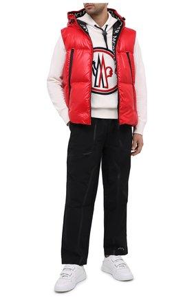 Мужской пуховый жилет agneaux MONCLER красного цвета, арт. F2-091-1A51C-00-68950 | Фото 2