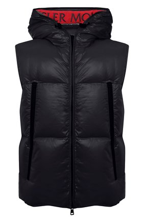 Мужской пуховый жилет agneaux MONCLER черного цвета, арт. F2-091-1A51C-00-68950 | Фото 1