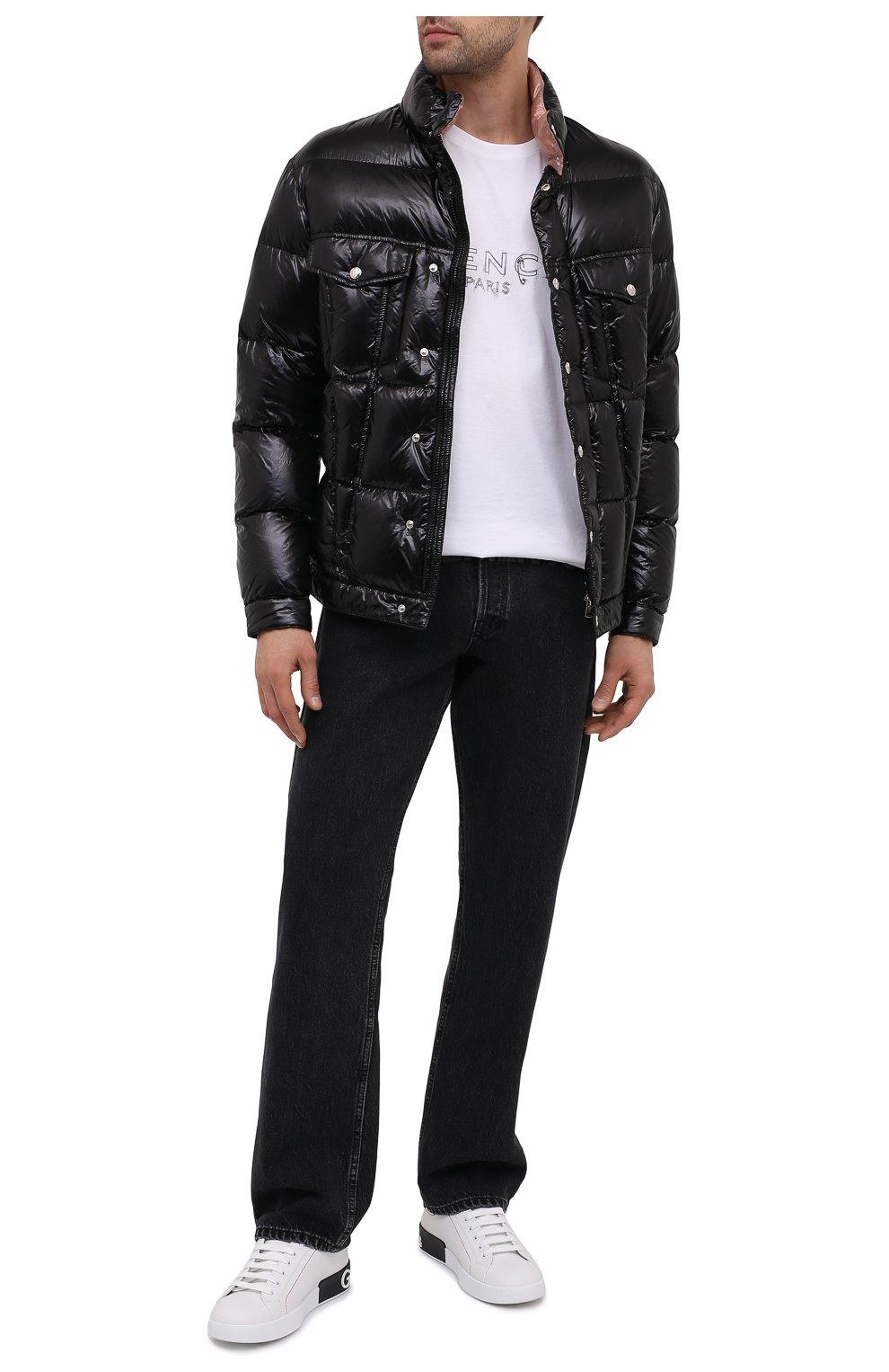 Мужская пуховая куртка montmirail MONCLER черного цвета, арт. F2-091-1A567-00-C0613 | Фото 2 (Кросс-КТ: Куртка, Пуховик; Мужское Кросс-КТ: пуховик-короткий, Пуховик-верхняя одежда, Верхняя одежда; Рукава: Длинные; Материал внешний: Синтетический материал; Материал подклада: Синтетический материал; Длина (верхняя одежда): Короткие; Материал утеплителя: Пух и перо; Стили: Кэжуэл)