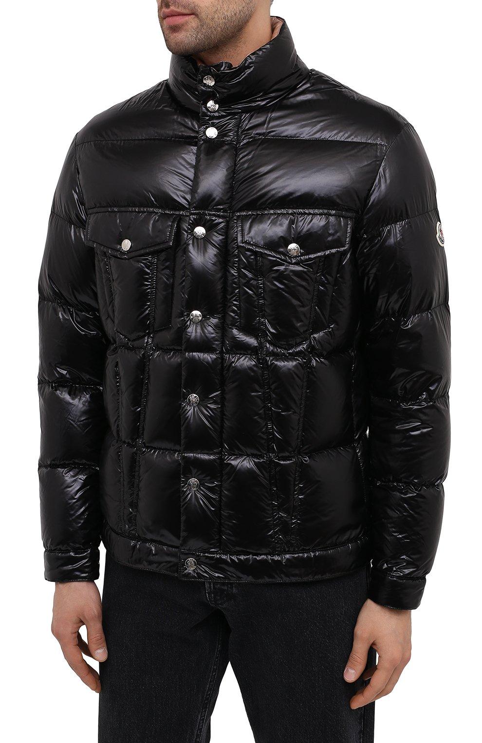 Мужская пуховая куртка montmirail MONCLER черного цвета, арт. F2-091-1A567-00-C0613 | Фото 3 (Кросс-КТ: Куртка, Пуховик; Мужское Кросс-КТ: пуховик-короткий, Пуховик-верхняя одежда, Верхняя одежда; Рукава: Длинные; Материал внешний: Синтетический материал; Материал подклада: Синтетический материал; Длина (верхняя одежда): Короткие; Материал утеплителя: Пух и перо; Стили: Кэжуэл)
