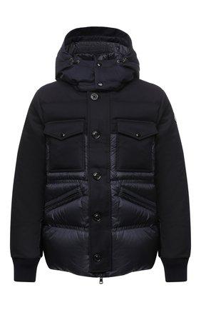 Мужская пуховая куртка penze MONCLER темно-синего цвета, арт. F2-091-1B537-00-53048 | Фото 1 (Материал утеплителя: Пух и перо; Рукава: Длинные; Длина (верхняя одежда): Короткие; Материал подклада: Синтетический материал; Материал внешний: Синтетический материал; Мужское Кросс-КТ: Верхняя одежда, Пуховик-верхняя одежда, пуховик-короткий; Стили: Кэжуэл; Кросс-КТ: Пуховик, Куртка)