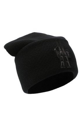 Мужская шерстяная шапка MONCLER GRENOBLE черного цвета, арт. F2-097-9Z702-00-A9251 | Фото 1