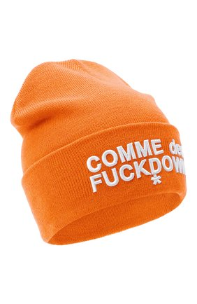 Мужская шапка COMME DES FUCKDOWN оранжевого цвета, арт. CDFA500 | Фото 1