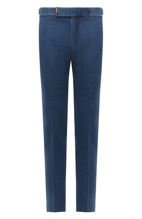 Мужские джинсовые брюки TOM FORD синего цвета, арт. 874R11/778J42 | Фото 1