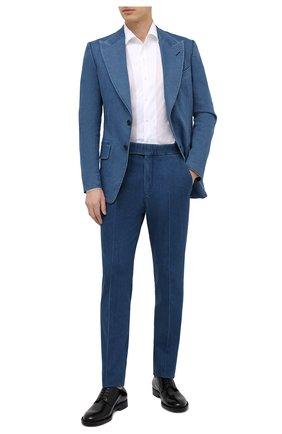 Мужские джинсовые брюки TOM FORD синего цвета, арт. 874R11/778J42 | Фото 2