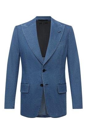 Мужской джинсовый пиджак TOM FORD синего цвета, арт. 874R11/1XMG40 | Фото 1