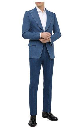 Мужской джинсовый пиджак TOM FORD синего цвета, арт. 874R11/1XMG40 | Фото 2