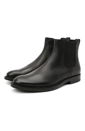 Мужские кожаные челси TOD'S черного цвета, арт. XXM62C00P200LW | Фото 1