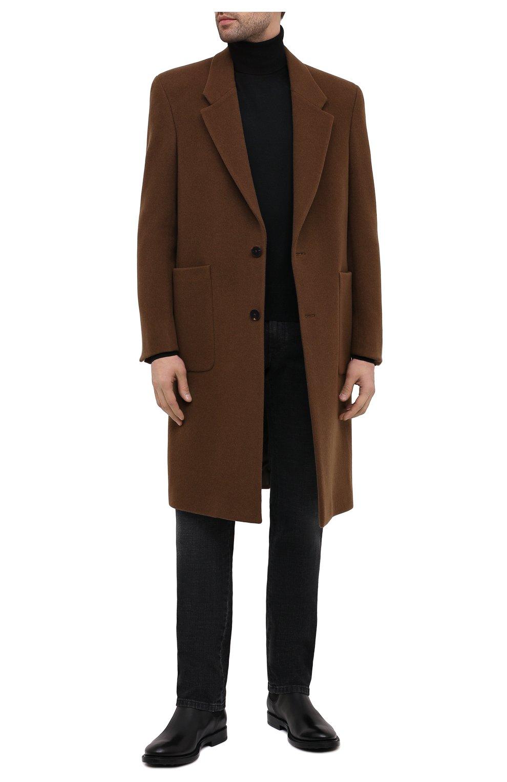 Мужские кожаные челси TOD'S черного цвета, арт. XXM62C00P200LW   Фото 2 (Материал внутренний: Натуральная кожа; Подошва: Плоская)
