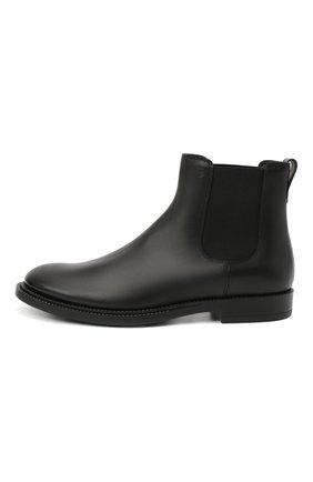 Мужские кожаные челси TOD'S черного цвета, арт. XXM62C00P200LW   Фото 3 (Материал внутренний: Натуральная кожа; Подошва: Плоская)