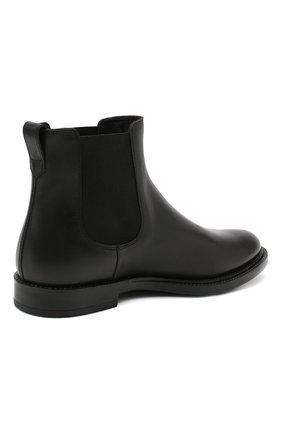 Мужские кожаные челси TOD'S черного цвета, арт. XXM62C00P200LW   Фото 4 (Материал внутренний: Натуральная кожа; Подошва: Плоская)