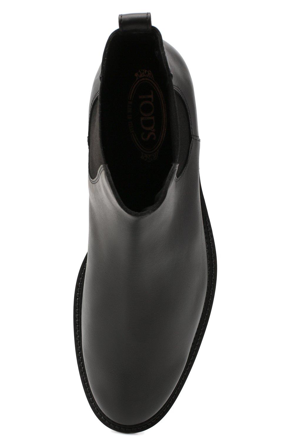 Мужские кожаные челси TOD'S черного цвета, арт. XXM62C00P200LW   Фото 5 (Материал внутренний: Натуральная кожа; Подошва: Плоская)