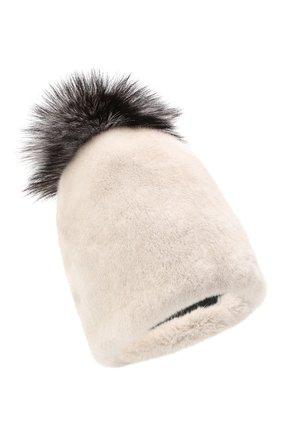 Женская шапка из меха норки KUSSENKOVV светло-бежевого цвета, арт. 52000024510 | Фото 1