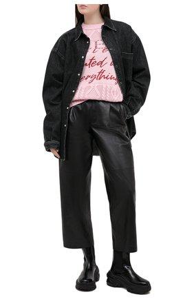 Женский свитер PHILIPP PLEIN розового цвета, арт. F20C WKG0280 PKN002N | Фото 2