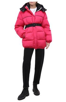 Женский пуховая куртка MSGM фуксия цвета, арт. 2941MDH04D 207655 | Фото 2