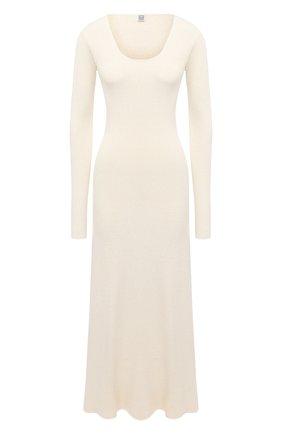 Женское платье из шелка и вискозы TOTÊME белого цвета, арт. M0LVEN0 204-646-760 | Фото 1