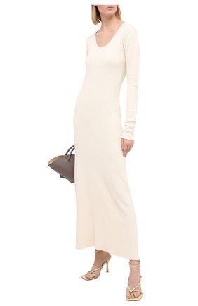 Женское платье из шелка и вискозы TOTÊME белого цвета, арт. M0LVEN0 204-646-760 | Фото 2