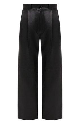 Женские кожаные брюки TWINS FLORENCE черного цвета, арт. TWFAI20PAN0003B | Фото 1