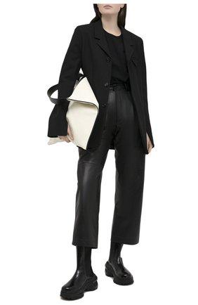 Женские кожаные брюки TWINS FLORENCE черного цвета, арт. TWFAI20PAN0003B | Фото 2