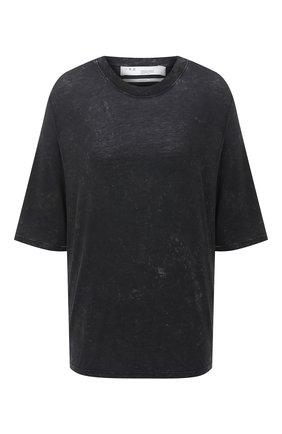 Женская футболка IRO черно-белого цвета, арт. WP19MAGDA | Фото 1