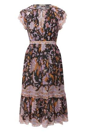Женское шелковое платье ULLA JOHNSON разноцветного цвета, арт. PF200138 | Фото 1