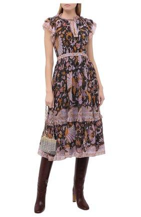 Женское шелковое платье ULLA JOHNSON разноцветного цвета, арт. PF200138 | Фото 2