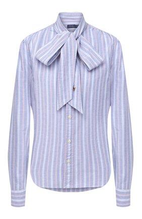 Женская хлопковая блузка POLO RALPH LAUREN синего цвета, арт. 211780620 | Фото 1