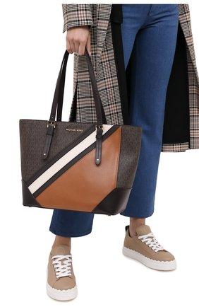 Женский сумка-тоут aria MICHAEL MICHAEL KORS коричневого цвета, арт. 30F0GXAT3V | Фото 2