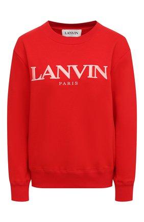 Женская хлопковый свитшот LANVIN красного цвета, арт. RW-T0660J-JR32-H20 | Фото 1