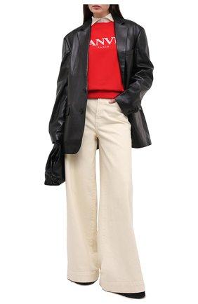 Женская хлопковый свитшот LANVIN красного цвета, арт. RW-T0660J-JR32-H20 | Фото 2