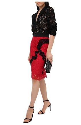 Женская юбка из хлопка и вискозы DOLCE & GABBANA красного цвета, арт. J4024Z/HLMCK | Фото 2