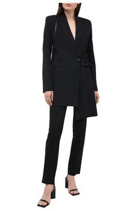 Женские брюки из шерсти и вискозы OFF-WHITE черного цвета, арт. 0WCA118F20FAB0011000   Фото 2