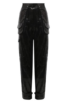 Женские брюки с пайетками BARBARA BUI черного цвета, арт. W7604RTR | Фото 1