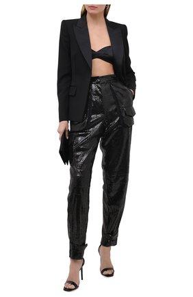 Женские брюки с пайетками BARBARA BUI черного цвета, арт. W7604RTR | Фото 2