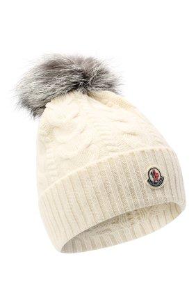 Женская шерстяная шапка MONCLER белого цвета, арт. F2-093-9Z703-01-A9328 | Фото 1