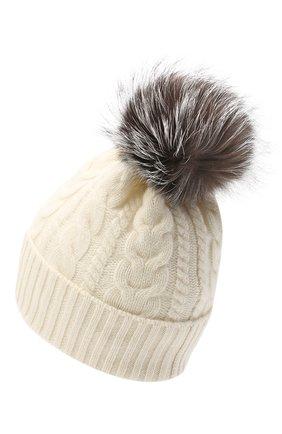 Женская шерстяная шапка MONCLER белого цвета, арт. F2-093-9Z703-01-A9328 | Фото 2