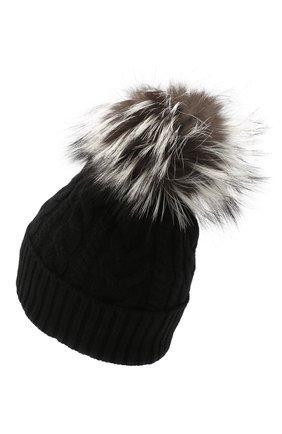 Женская шерстяная шапка MONCLER черного цвета, арт. F2-093-9Z703-01-A9328 | Фото 2