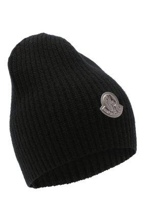 Женская шерстяная шапка MONCLER черного цвета, арт. F2-093-9Z744-00-A9197 | Фото 1
