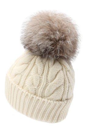 Женская шерстяная шапка MONCLER белого цвета, арт. F2-098-3B702-01-A0069 | Фото 2
