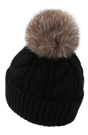 Женская шерстяная шапка MONCLER черного цвета, арт. F2-098-3B702-01-A0069 | Фото 2