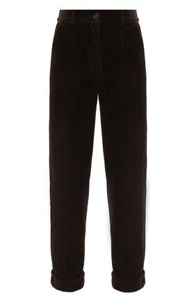 Женские хлопковые брюки DOLCE & GABBANA темно-коричневого цвета, арт. FTAY0T/FUWC5 | Фото 1