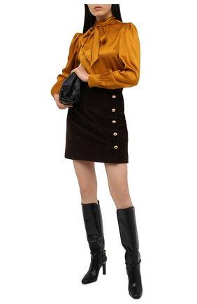 Женская хлопковая юбка DOLCE & GABBANA темно-коричневого цвета, арт. F4BX4T/FUWC5 | Фото 2