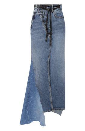 Женская джинсовая юбка TOM FORD голубого цвета, арт. GCD051-DEX115 | Фото 1
