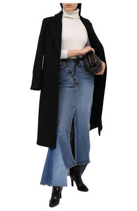 Женская джинсовая юбка TOM FORD голубого цвета, арт. GCD051-DEX115 | Фото 2