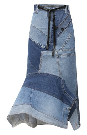 Женская джинсовая юбка TOM FORD голубого цвета, арт. GCD050-DEX114 | Фото 1