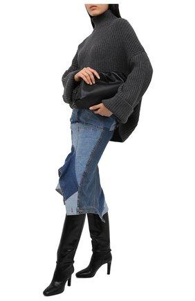 Женская джинсовая юбка TOM FORD голубого цвета, арт. GCD050-DEX114 | Фото 2
