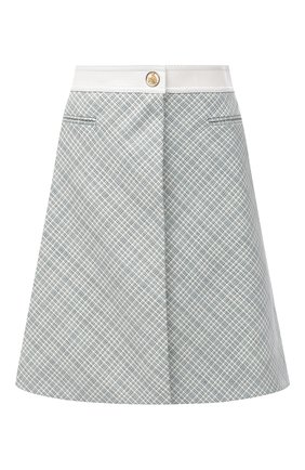 Женская шерстяная юбка LANVIN голубого цвета, арт. RW-ST433K-4763-H20 | Фото 1